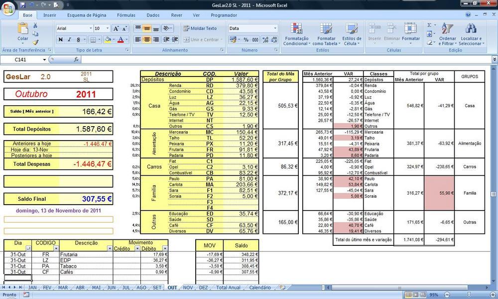 Geslar Excel Or 231 Amento Familiar